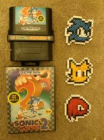 Sonic, Tails, and Knuckles Beadsprites by 8bitsofawesome