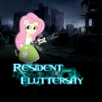 Resident Fluttershy by Gioku