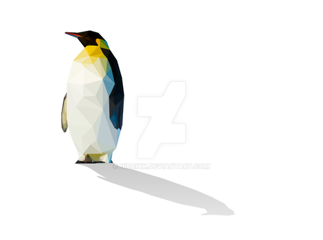 Low Poly Penguin (Print Now Available) by Nibbink