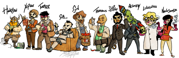 Yogscast Line Up by Mr-Xvious