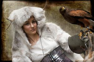 Druid with Falcon by Costurero-Real