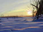 Matte Painting Study #4- Snow Field by ninjaisonfire