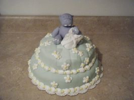 Hippo Baby Shower Cake by TheForest
