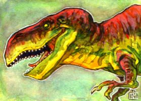 T-Rex Sketch card by el-roacho