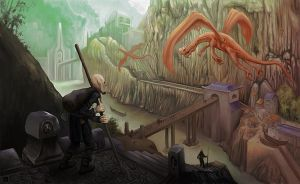 The Sojourner and the dragons by TheSolitaryReaper