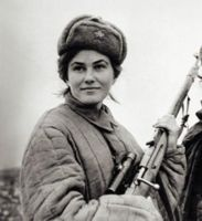 Pavlichenko russian female sniper WW2 by UniformFan