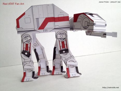Red Star Wars ATAT Papercraft only 15 parts! by jimbox31