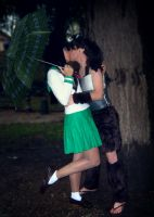 Kagome and Koga - kiss by pallottili