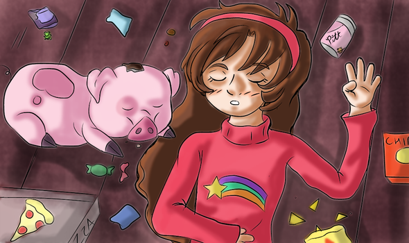 Mabel and Waddles by MizakiShidou