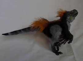 MOVING Animatronic Raptor Chick artdoll-PROTOTYPE by hikigane