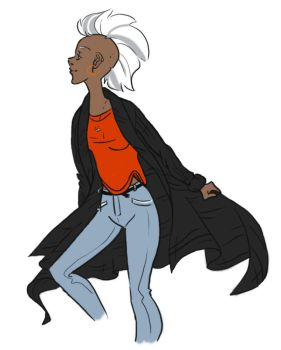 Ororo In My Clothes by FluffysTenseiga