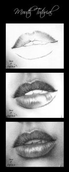 Mouth tutorial - charcoal by Zindy