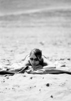 Laying in the Sand by malchikwik