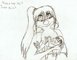 Maria and baby Akira by Genbe89
