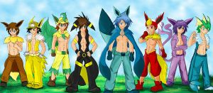 P-Guys of the Eevee Evolutions by LiliNeko