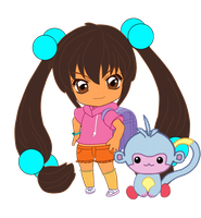 Dora and Boots by HarleyQuinne
