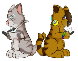 :CE: Jazz and Rixil! by CollectionOfWhiskers