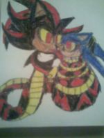 Naga Shadow and Sonic 2 by PrincessShannon07