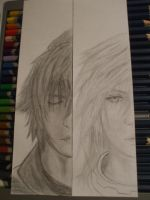 Noctis and Lightning Face Bookmarks in progress by SyncTempest27