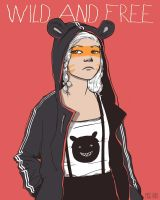 Serie Free and Wild: Red Bear by lauramissaoki