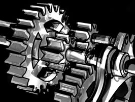 Gears Colorless by shyshadow