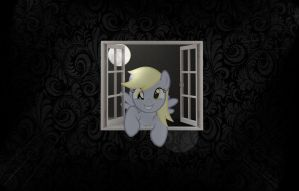 Derpy's Windowshopping (with Shadding) by yoshiman111