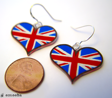 I Love Great Britain Earrings by Emoeba
