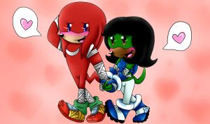Sonic Boom Love ::Knuxophie:: by SophieTheYoshi