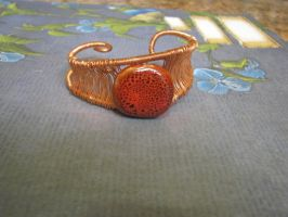 Wire Wrapped Copper red stone by bcainspirations