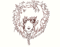 wolf furr on a wolf by minibabe81