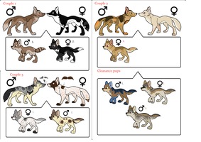Wolf Adoptables/Breedables OPEN! by awesomist1