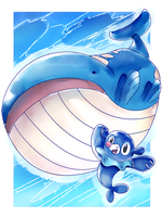 PKMN 20th Anniversary Trial - Day 2 - Water Type by MintAnnComics