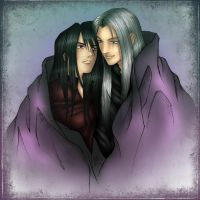 Sephiroth And Vincent by liquid-venom