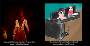 Pyramid Head Reaction by nyappy-time