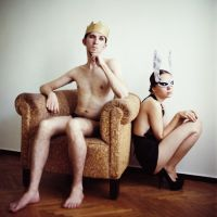 King and Rabbit by psychiatrique