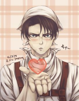 Rivaille Flying Kiss~ by Minoru--chan