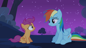 Dash comforts Scoot by Ten-kara