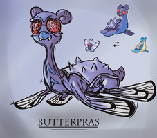 Pokemon Fusion: Butterpras by Sophalone