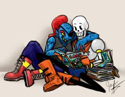 undertale papyrusUndyneMags by jameson9101322