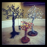 Size comparison of the wire trees by etodorut