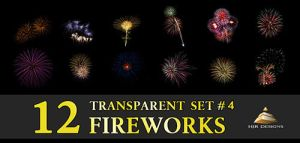 12 Transparent Fireworks Set 4 by HJR-Designs