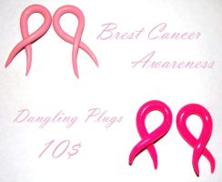 Breast Cancer Plugs by BitternessPrincess