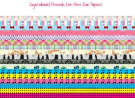 Eclectica Mix StarPaper Strips by sugaredheart