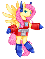 COMMISSION: Optimus Fluttershy by Kavaeka