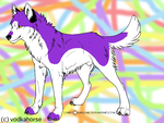 akita boy with colours by VodkaHorse