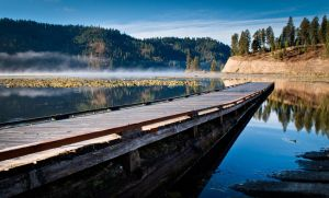 Foggy Morning at the Dock by TheUniphotoghrpher