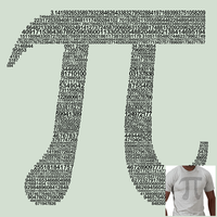 Typography Pi by Raccoonish