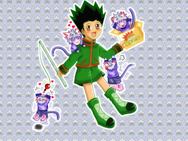 HxH : Chibi Gon and Killua by xcredensjustitiamx