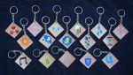 My Little Pony Cutie Mark Leather Keychains by RebelATS