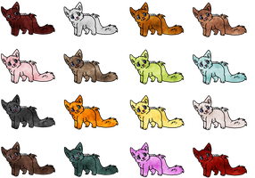 Free Chibi Canine/Kitty Adopts closed by Tygerlanders-adopts